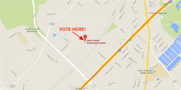 Vote Here - Hays County